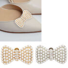 Single Bow Pearl Silver Gold Women Wedding Shoe Clip High-heel Buckle Removeable