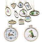 Mini Embroidery Hoop Wooden Frame Hand Cross Stitching Hoop Framing DIY Crafts