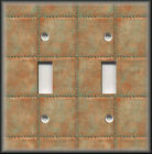 Metal Switch Plate Cover Faux Finish Design Industrial Steampunk Decor Copper 07