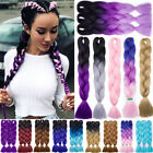"5packs 24"" Jumbo Braiding Hair Ombre Kanekalon African Braids Any New Colors Fnk"