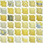 2 Pack Yellow Accent Throw PILLOW CASE Sofa Couch Bed CUSHIO