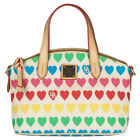 NWT Dooney & Bourke Embroidered Heart Print Satchel Handbag Tote