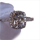 White Sapphire Princess Engagement Ring Zircon White Gold Wedding Band Size 5-11