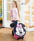 """Disney Kids' Molded Rolling Luggage Polyester Cartoon Character 10"""" Telescoping"""