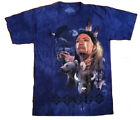 The Mountain Brave Collage Short Sleeve Native American Wolf Eagle, Bear Shirt