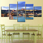 3Pcs Unframed World Map Oil Painting Canvas Print Modern Wall Picture Home Decor
