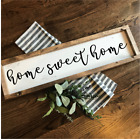 HOME SWEET HOME Rustic LARGE Wood Sign Fixer Upper Farmhouse Primitive handmade