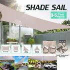 300D Waterproof Sun Shade Sail Garden Canopy UV Patio Cover Rectangle Triangle