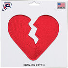 Внешний вид - Broken Heart Love Emoji Iron On Embroidered Applique Patch