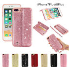 for iPhone X 6 6S 7 8 Plus Bling Case Shockproof PU Leather Wallet Flip Cover