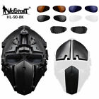 Helmet Airsoft Paintball CF Game Full Face Mask Tactical Protective &5 Eyeglass