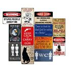 Vintage Metal Tin Signs Man Cave Retro Plate Pub Bar WC Art Decor Wall Poster
