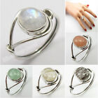 Rainbow Moonstone tcw 2.7 Women Ring Any Size 925 Silver Natural Stone Jewelry