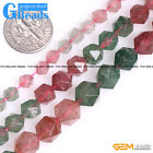 Colorful Cherry Quartz Stone Polygonal Faceted Round Beads For Jewelry Maing 15""