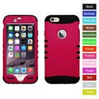 For iPhone 6S Hot Pink Hybrid ShockProof Rugged Armor Protec
