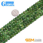 """Green Peridot Faceted Round Beads For Jewelry Making Free Shipping 15"""" 6mm 8mm"""