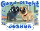"PUPPY DOG PALS PILLOWCASE ""GOOD NIGHT"" Personalized Any NAME Super Soft Bedding image"