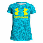 Under Armour Mädchen Big Logo Novelty Shortsleeve Tee Girls T-Shirt blau NEU