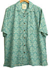 Men's 100% Silk Polynesian Style Hawaiian Printed Camp Shirt Floral Beach New