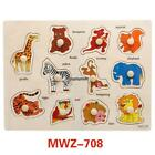 Children Early Education Wooden Puzzle Hand Grasping Board Number EH7E