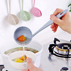 2 in 1 Long Handle Soup Spoon Dinnerware Kitchen Cooking Utensils Gadgets Tools