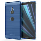 Sony Xperia XZ3 Carbon Fibre TPU Silicone Gel Case Edge Protection Phone Cover <br/> Shock Absorbing Stylish Case | Instock | Fast Delivery