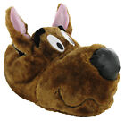 Mens Scooby Doo Novelty Warm Brown Fluffy Slippers Size UK 7-12