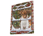 Please Come Home For Christmas Rat Terrier Dog Sitting Window Blanket BLNKT54192