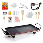 Electric Teppanyaki Table Grill Griddle Smokeless BBQ Hot Plate Barbecue Tool