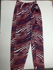 Buffalo Bills Mens Official NFL Apparel Zebra Zubaz Pants New Tags SMALL-3X