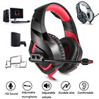 3.5mm Mic Stereo Bass Surround Gaming Headset Headphones For PS4 Pro Xbox One PC