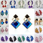 Fashion Womens Crystal Rhinestone Wing Ear Drop Dangle Stud Earrings Jewellery