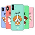 HEAD CASE DESIGNS HAPPY PUPPIES HARD BACK CASE FOR APPLE iPHONE PHONES