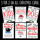 Funny Rude Christmas Card Mum Dad Brother Sister Best Mate (BUY 2 GET 1 FREE)