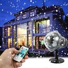 LED Snow Falling Projector Light Snowflake Christmas Lamp Xmas Party Garden Lawn