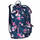 Miso Womens Canvas Backpack Back Pack Print Drawstring Printed