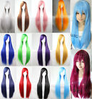 Women Fashion Long Straight Wigs Cosplay Costume Anime Hair Party Full Wigs 80cm
