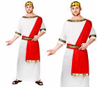 Imperatore Romano Costume Travestimento da Uomo Toga Party Greco Vestito M-XL