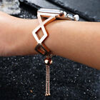 For Apple Watch 38mm 40 42MM 44mm Fashion Metal Bracelet iWatch Band Women Strap