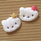 """40 pcs x 1.6"""" Felt Padded Kitty Appliques w/Sequin Crown/Hello Baby Shower ST550"""