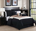 11 Piece Rosslyn Black/Teal Bed in a Bag w/500TC Cotton Sheet Set