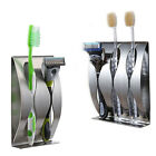 Wall Mount Stainless Steel Toothpaste Dispenser 2/3Position Toothbrush Holder