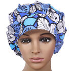 Women Banded Bouffant Scrub Cap with Sweatband Cotton Bleach Hat Chemo Cap