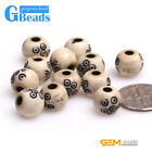 Wholesale Big Hole Assorted Carved Bone Loose Spacer Beads for Jewelry Making