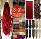 Hair Extensions Clip in Hair Extension real Human Feel Black Brown Blonde Red