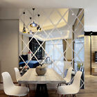 DIY 3D Stickers Mirror Breastwork Sticker Reflection Home Living Room Wall Decor F2
