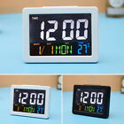 Fashion Colorful Big Screen LCD Digital Display Alarm Clock Gift w/ Temperature