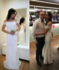 White/Ivory Lace Wedding Dress Beach Gown Mermaid Ball Gown Wedding Gown US