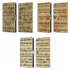 HEAD CASE DESIGNS MUSIC SHEETS LEATHER BOOK WALLET CASE FOR HUAWEI PHONES 2