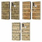 HEAD CASE DESIGNS MUSIC SHEETS LEATHER BOOK WALLET CASE COVER FOR XIAOMI PHONES